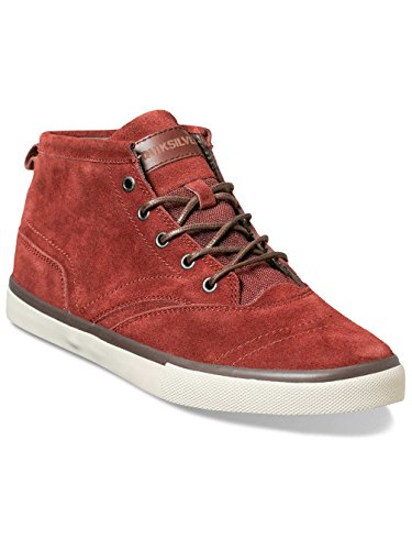 Quiksilver  HEYDEN, Baskets hautes homme Rouge - red/grey/brown