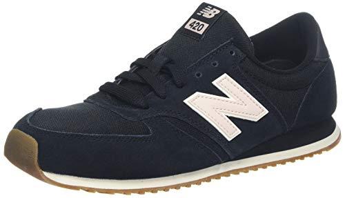 New Balance Damen 420 Sneaker, Schwarz (Black/Oyster Pink Blk), 40 EU