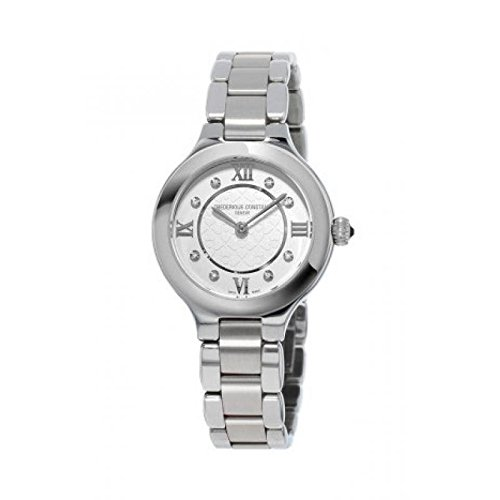 Frederique Constant Junior Ladies f200121 Quartz Watch (Rechargeable) quandrante White Strap Stainless Steel