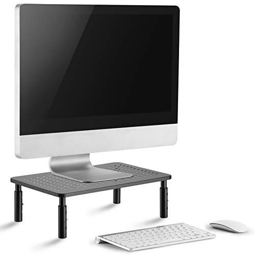 Supporto monitor pc premium - il supporto per tv, il design salva spazio e l'altezza regolabile garantiscono l'altezza ideale - Monitor stand