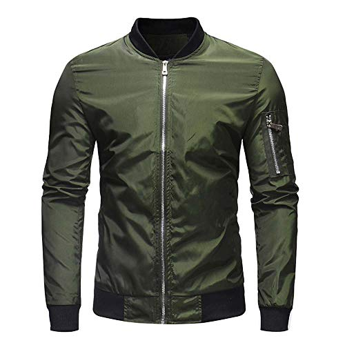 Crewneck Knit Top (Sannysis Herren Slim Fit Pullover Langarm Mantel Herren Herbst Winter Casual Solid Zipper Jacke Top Bluse Outwear)