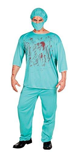 Boland-Kostüm Erwachsener Chirurg Horror Bloody Surgeon Mens, grün, Größe M/L, - Nacht Chirurg Kostüm