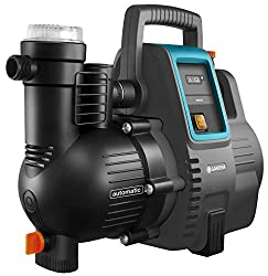 GARDENA Hauswasserautomat 4000/5E: Energiesparende Hauswasser- und Bewässerungspumpe mit innovativer Technik, einfache Bedienung, Fördermenge 4000 l/h, geräuscharmer Betrieb (1758-20), Grau/schwarz