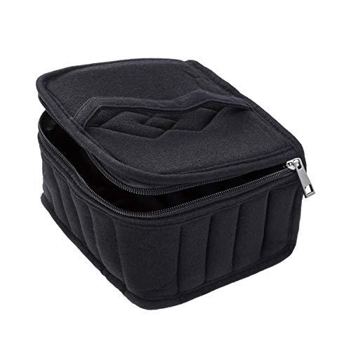 Preisvergleich Produktbild FENICAL Ätherische Öle Organizer Bag Nagellack Flasche Tasche für Reisen 30-Grid (schwarz)