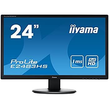 "Iiyama E2483HS-B1 Ecran PC LED 24"" 1920 x 1080 2ms VGA; DVI; HDMI"
