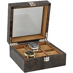 Armbanduhr Sammler Box für 6Handgelenk Uhren in dunklen Wurzelholz von aevitas