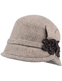 Sunny Sombrero Hembra Otoño Invierno Elegante Sencillo Pescador Gorra Retro  Pequeña Sombrero De Copa (Color b0c49955dd9