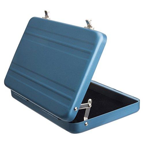 [Luftfahrt-Aluminium Mini-Koffer Geschäft]--Premium Aviation Aluminium Gehäuse / Halter für Instax Mini Filme / Business Name Karten / ID Karten / Kreditkarten (Blau)