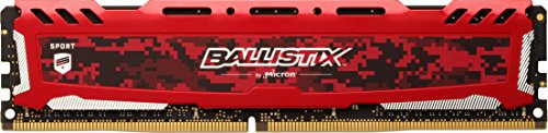 Ballistix Sport LT BLS4G4D240FSE Memoria da 4 GB, DDR4, 2400 MT/s, PC4-19200, Single Rank x8, DIMM, 288-Pin, Rosso