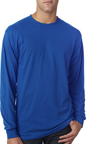 Jerzees 21ml 100% Polyester Langarm T-Shirt Königsblau