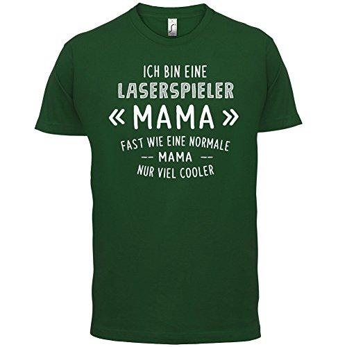 Ich bin eine Laserspieler Mama - Herren T-Shirt - 13 Farben Flaschengrün