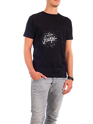 """Design T-Shirt Männer Continental Cotton """"Smoke."""" - stylisches Shirt Comic Menschen Streetart von Jannis Förster Schwarz"""