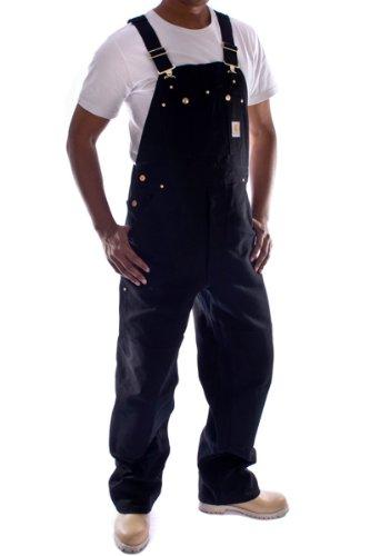 Carhartt - Latzhose, Denim - Schwarz Jeanslatzhose Jeans Arbeit Latzhosen männer R01Black-40W-34L (Arbeit Carhartt Jeans)