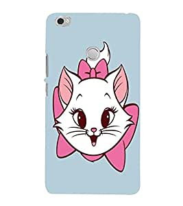 Takkloo sky background white nd pink cat,wearing bow, smily face) Printed Designer Back Case Cover for Xiaomi Mi Max :: Xiaomi Mi Max Prime
