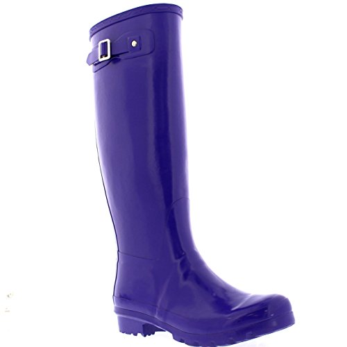 POLAR Womens Original Tall Gloss Winter Waterproof Wellies Rain Wellington Boots