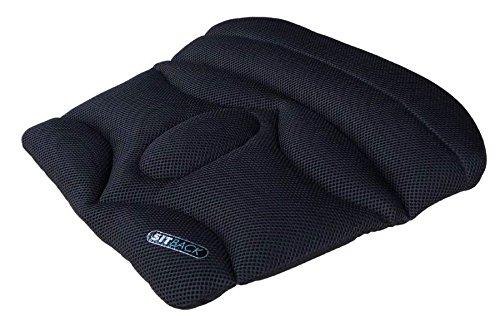 Preisvergleich Produktbild Sitback Keilkissen Stuhlkissen Basic Black Air Sitzerhöhung Sitzauflage, schwarz