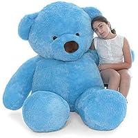 Lovebug Cute Bootsy Sky Blue 90 cm 3 feet Huggable and Loveable for Someone Special Teddy Bear - 90 cm(Blue)