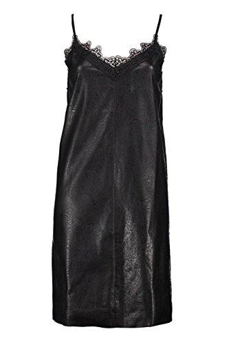 Schwarz Damen Boutique Jess Slip-Kleid aus PU Schwarz