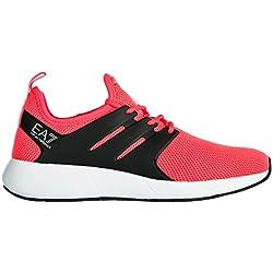 Emporio Armani EA7 scarpe sneakers donna nuove originale minimal running rosa