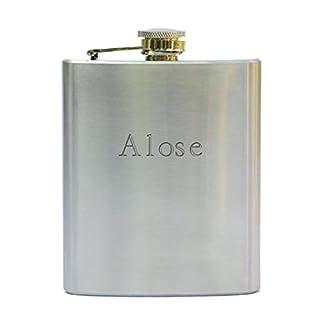 Flasque en acier inoxydable avec un nom gravé: Aloïse (Noms/Prénoms)
