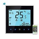 Providethebest Fernbedienung Zentrale APP Klimaanlage Temperaturregler 4 Rohr Thermostat K¨¹hlung Heizung Hintergrundbeleuchtung Schwarz