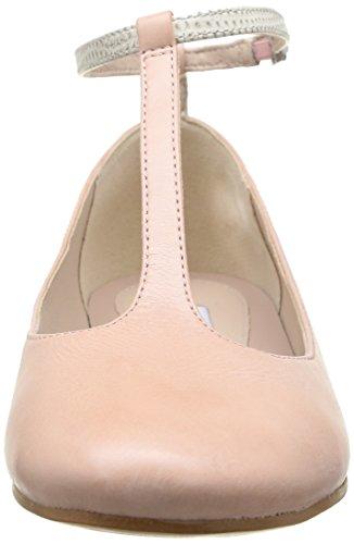Clarks Festival Glee Damen Knöchelriemchen Ballerinas Pink (Dusty Pink Lea)