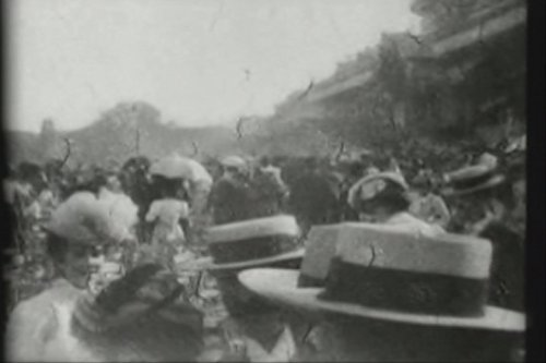 Breaking of the Crowd at Military Review at Longchamps (Longchamp Vintage)