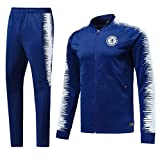 Shi18sport Club Langarm-Trikot Fußballanzug Anzug Team Spielen Wettbewerb Trainingsanzug, 1, S