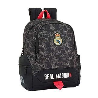 41dqwgh%2B%2B7L. SS324  - Safta Real Madrid Mochila Infantil, 43 cm, Negro