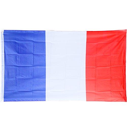 Französisch Themen Kostüm (TRIXES Große französische Flagge 5ft x 3ft Frankreich Flagge Bastille)