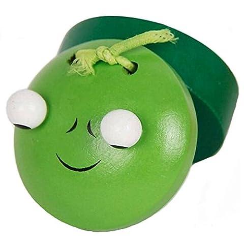 Instrument Early Education musicale Green Frog Battants en bois pour les enfants