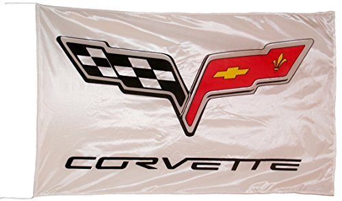 chevrolet-corvette-c6-weiss-fahne-flagge-5x3-ft-150-x-90-cm