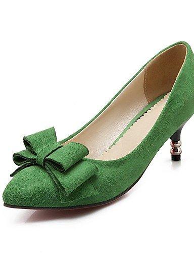 WSS 2016 Chaussures Femme-Décontracté-Bleu / Vert / Rouge-Talon Aiguille-Talons / Bout Pointu-Talons-Similicuir blue-us3.5 / eu33 / uk1.5 / cn32