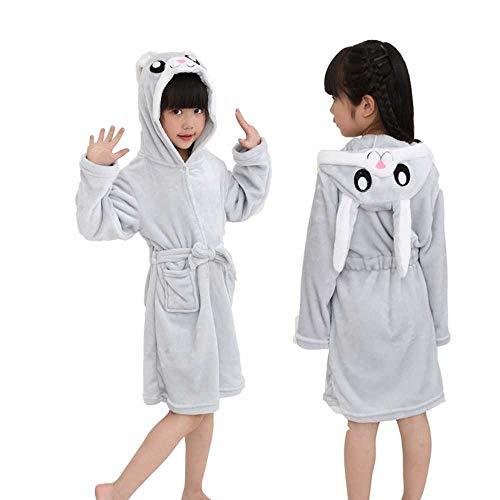 GNLLYOP Winter Kinder Robe Für Mädchen Pyjamas Tier Mit Kapuze Kinder Bademantel Jungen Nachtwäsche Kinder Morgenmantel Baby Nachthemden Weihnachten Pyjamas