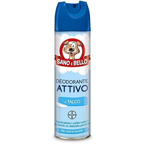 Sano e bello Deodorante Attivo al Talco ml. 250-Igiene toeletta Cane, Multicolore, Unica