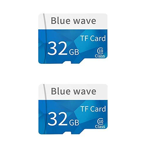 Docooler [2 STÜCK] Speicherkarte Große Kapazität Klasse 10 TF Karte Flash TF Karte 32G Datum Speicher High Speed für Smartphone