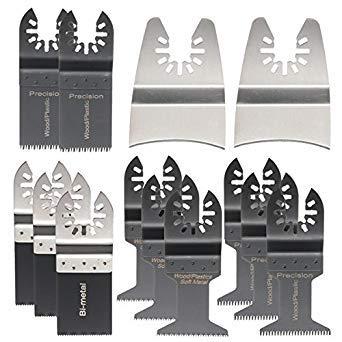 Preisvergleich Produktbild Petsdelite Sägeblätter,  oszillierend,  Multitool für Fein Bosch Dewalt Porter,  15 Stück
