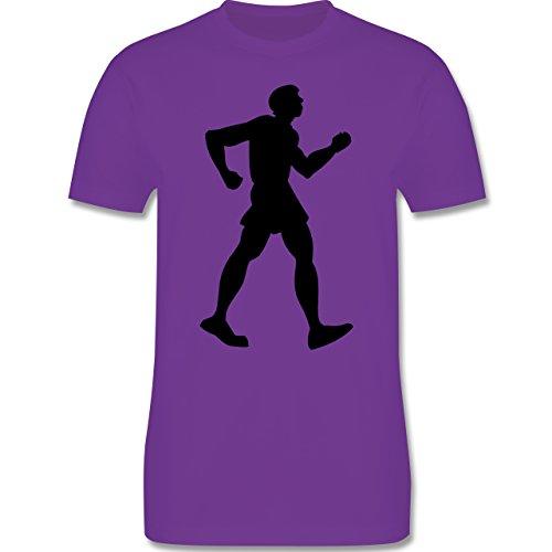Laufsport - Walken - Herren Premium T-Shirt Lila