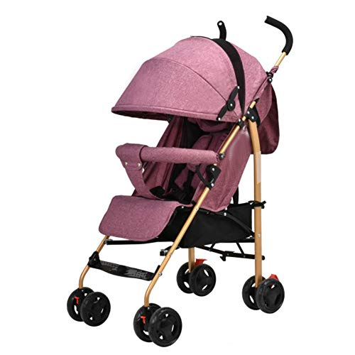 Twin Trittbrett (Kinderwagen Baby Regenschirm Kann Sitzen Liegend Licht Falten Anti-Buckel Zurück Anti-Kollaps Rot)