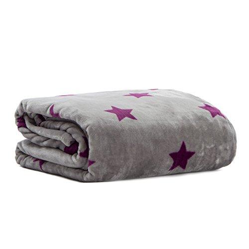 Pink Papaya Snug Me Supersoft Stars, Kuscheldecke mit Sternenmuster, Maße: 150 x 200 cm