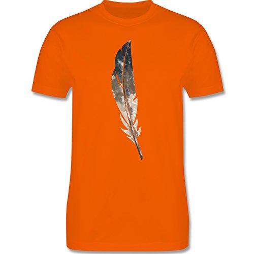 Statement Shirts - Wasserfarben Feder - Herren Premium T-Shirt Orange