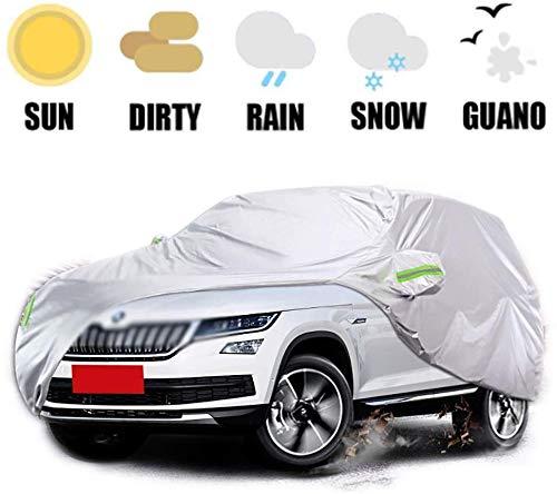 Autoabdeckungen Limousine Autoabdeckung Wasserdicht Regen Staub Sonne UV Allwetter Wasserdicht Schutz für Automobile Indoor Outdoor Fit SUVKodiaq mit Riemen und Reflektierende (Farbe: 2018 Skoda Kodi