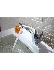 pengweiMonotrou lavabo robinet lavabo robinet bassin chaud / froid lavabo robinet de cuivre affiné