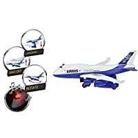 UMKY Toy Aeroplane For Kids With Lights And Sound Moving Take Off Rotating And Landing Plane Toys