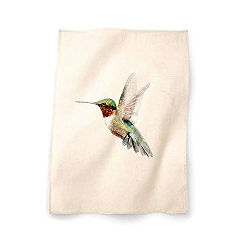 Jack Fairweather - Hummingbird Printed Natural Cotton Tea Towel Dish