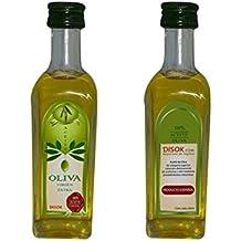 DISOK - Botella De Aceite De Oliva 60 Ml - Botellas Botellitas Miniaturas de Aceite para