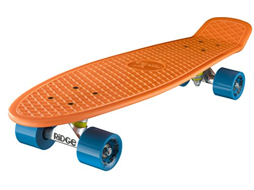 Ridge Skateboard Big Brother Nickel 69 cm Mini Cruiser, orange/blau
