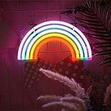 Dreamworldeu Regenbogen Neonlicht LED Lampe Nachtlicht USB und Batteriebetrieben LED Neonschild für Party,Weihnachten Kinder Zimmer Deko