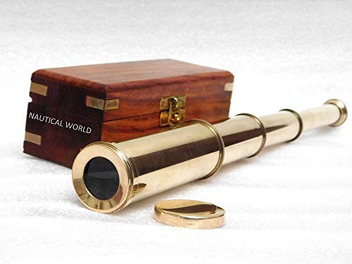 Antiques Fashion Style Antique Box Telescope Nautical Vintage Home Decor Love Gifts Functional Brass Ideal Gift For All Occasions Maritime Telescopes