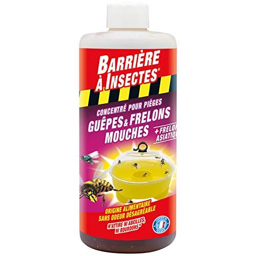 BARRIERE A INSECTES Appât pour pièges à guêpes et frelons concentré, Jusqu'à 12 jours, 500 ml, BARPIGUEP500